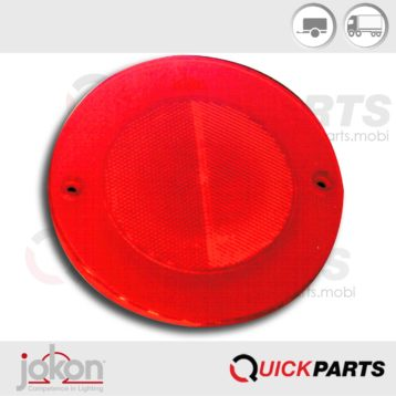Red reflex reflector | Jokon 30.0015.020, E1- 021606