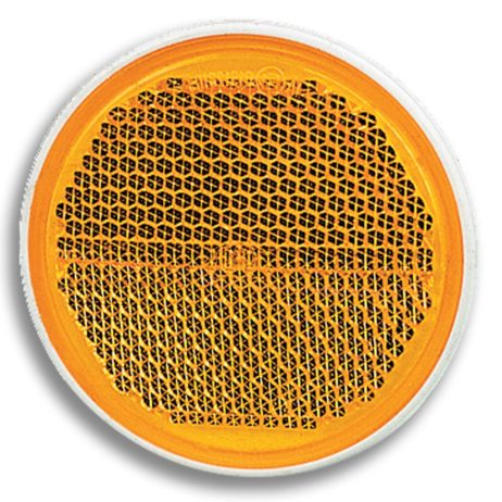 Yellow Reflex Reflector Ø 58 mm with self-adhesive tape