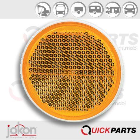 Yellow Reflex Reflector Ø 58 mm | Jokon 30.0001.010, E1-0231306