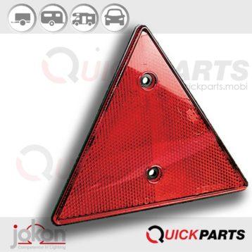 Reflector Reflejo Triangular - base plástico negro| Jokon E1-13480