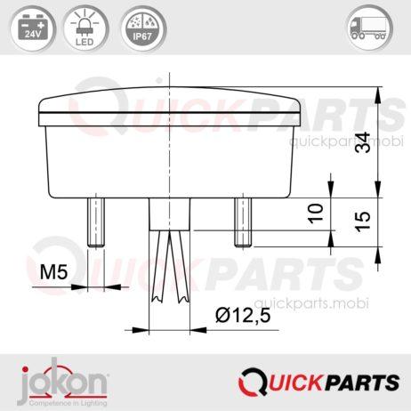 LED Direction / Stop / Tail Light | 24V | Jokon E2-06069