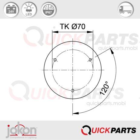 LED Direction / Stop / Tail Light | 24V | Jokon E2-07013