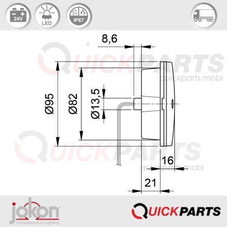 LED Direction / Stop / Tail Light | 24V | Jokon E2-07043