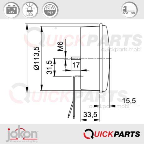 LED Direction / Stop / Tail Light | 24V | Jokon E1-4231