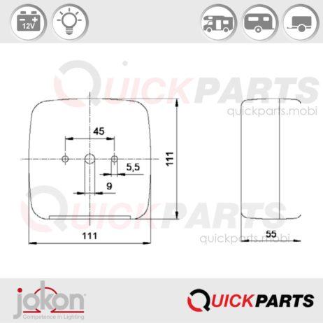 Multifunktionsleuchte | 12V | Jokon E1-0153285