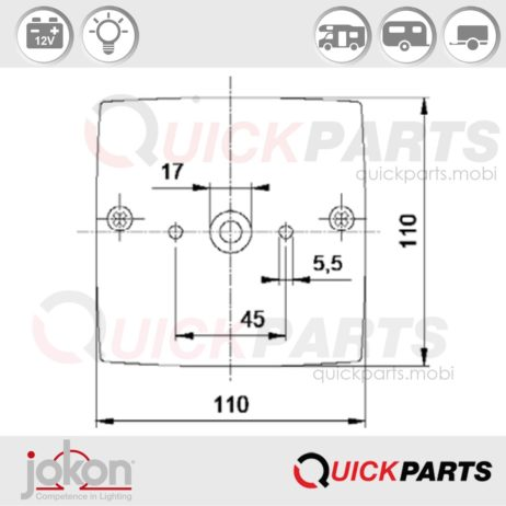 Multiple Function Light | 12V | Jokon E1-0153286
