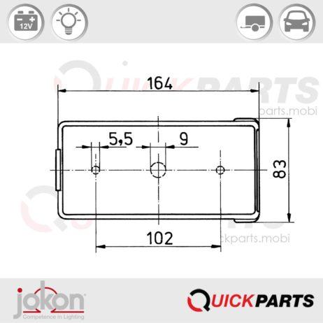 Achterlicht met meerdere functies | 12V | Jokon E1-0253381