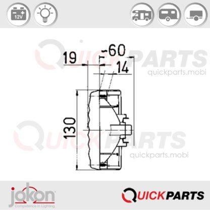 Luz de funciones múltiples | 12V | Jokon E1-0263206