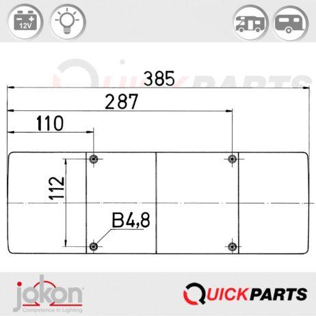 Multifunktionsleuchte | 12V | Jokon E1-8763R23 / E1-0263206