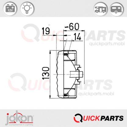 Feu Multifonction Gauche et Droit 12V   Jokon E1-8763R23 / E1-0263206