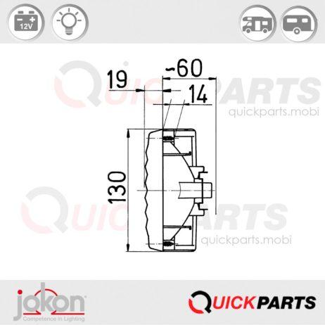 Feu Multifonction Gauche et Droit 12V | Jokon E1-8763R23 / E1-0263206