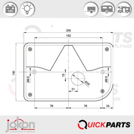 Multiple Function Light / RH | Jokon E2-06061