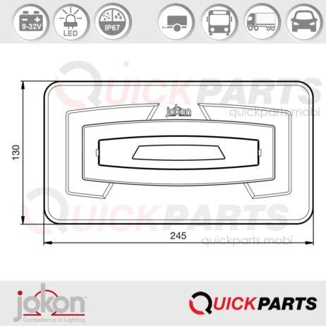 LED Multiple Function Light | Jokon E13-13359 EMV / EMC