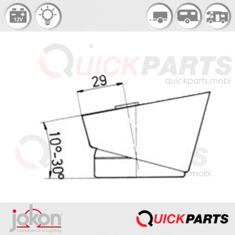 Front Marker Light | 12V | Jokon E1 21672 IA E1 0131310