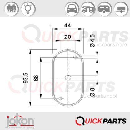 End-Outline Marker Light | 12-24V | Jokon E1-021023
