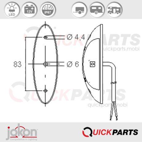 LED End-Outline Marker Light | Jokon E2-06078