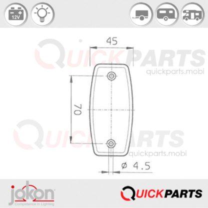 Seitenmarkierungsleuchte 12 V | Jokon E1 1292