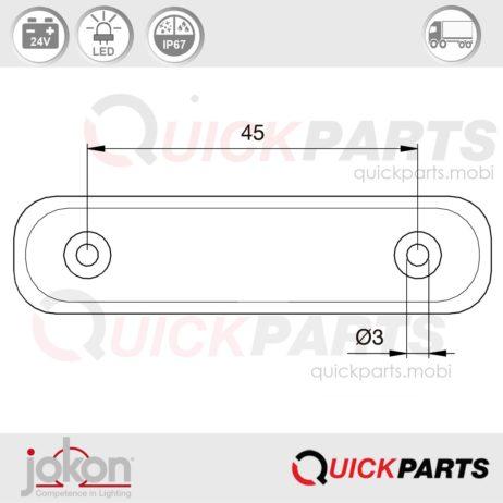 4 LED's Tail Light | 24V | Jokon R E2-0205019
