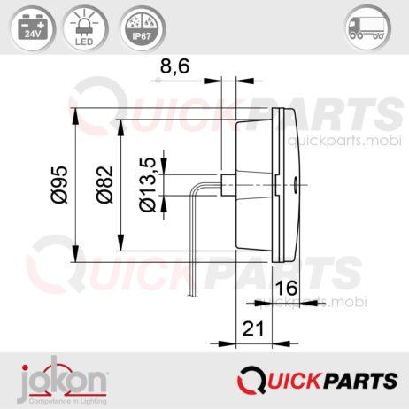 LED-Rückfahrleuchte 24V | Jokon E2-07048
