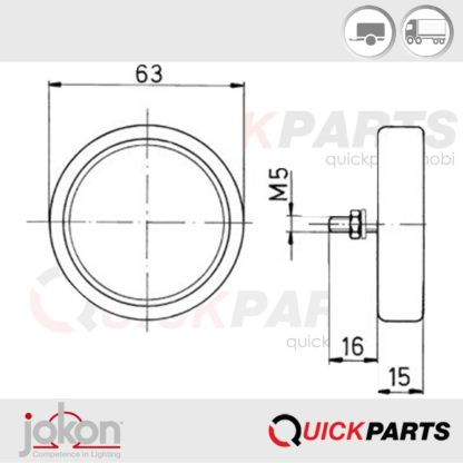 Reflex Reflector | Jokon IA E1- 0231306