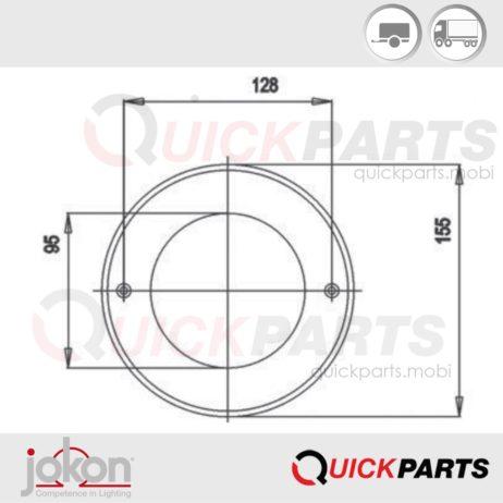 Catadioptre rond rouge | Jokon IA E1- 021606