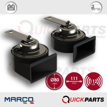 Electromagnetic horns twin pole | 24V | Marco 100 080 13, TM80/N