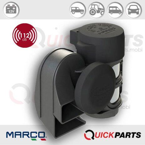 Kompakte zweiton Hupe + integriertem Kompressor | 12V | Marco 112 030 12, TR2