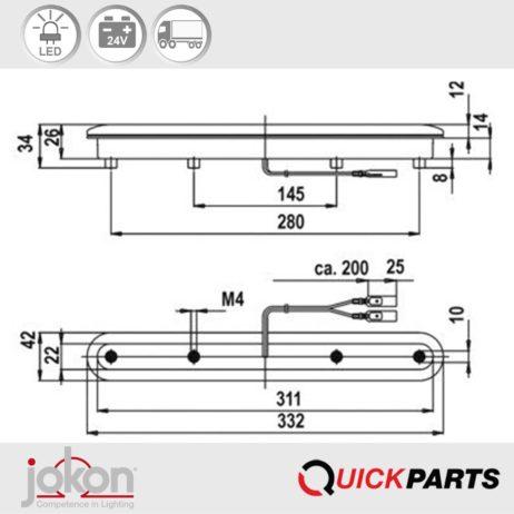 LED High Level Stop Light | Jokon S3 E4- 027548