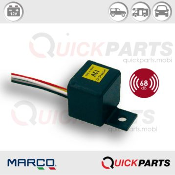 Electronic light warning buzzer, blister | 12V | Marco 104 041 02, Bz2