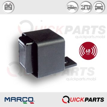 Avertisseur, buzzer pour cabine avec filtre antibrouillage EMI. | Utilisé comme avertisseur pour systèmes de signalisation anomalies SAS | Marco 104 042 02, Bz3-12.