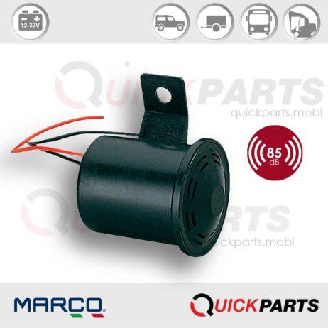 Alarma de marcha atrás para vehiculos | Tensión universal 12-80V | 85 dB