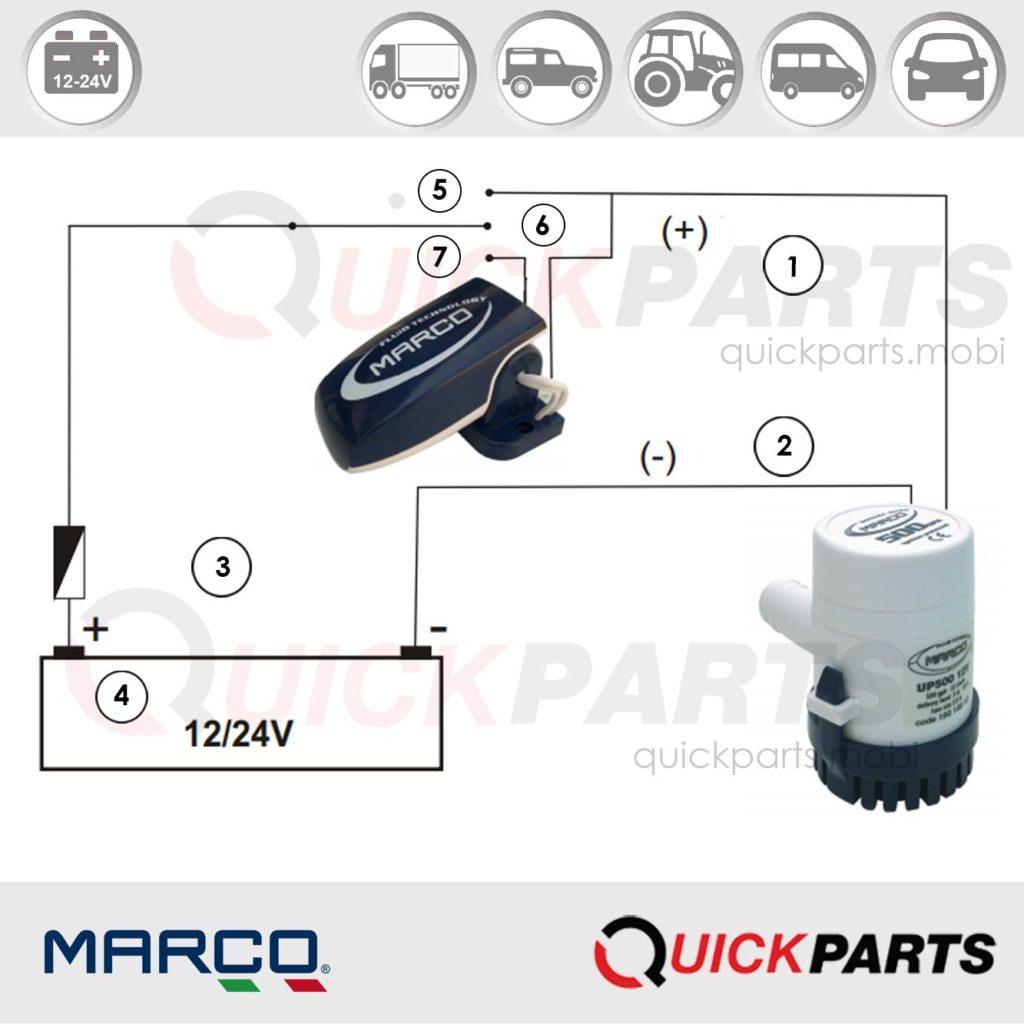 Automatic Float Switch For Bilge Pumps