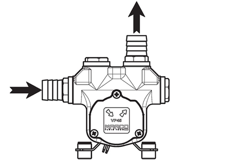Self-Priming electric pump for various liquids | 24V | Connection Options, Marco 166 026 13, VP45-N