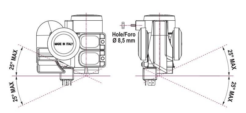 Kompakte zweiton Hupe + integriertem Kompressor | 12V | Montageplan, Marco 112 030 12, TR2