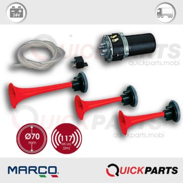 Electric Air Horns | 24V | Marco 112 080 13, F3/R