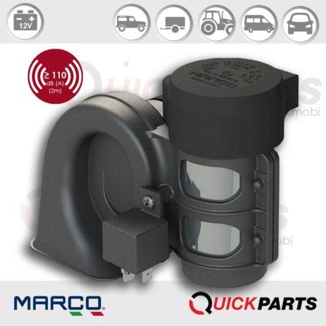 Single sound electropneumatic horn | 12V | Marco 112 310 12