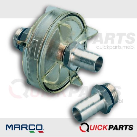 In-line filter made of transparent nylon, Marco 165 001 10