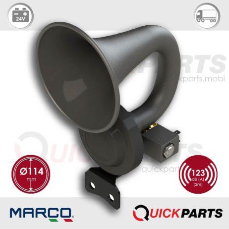 Black plastic horn, internal mounting | 24V | Marco 110 120 13