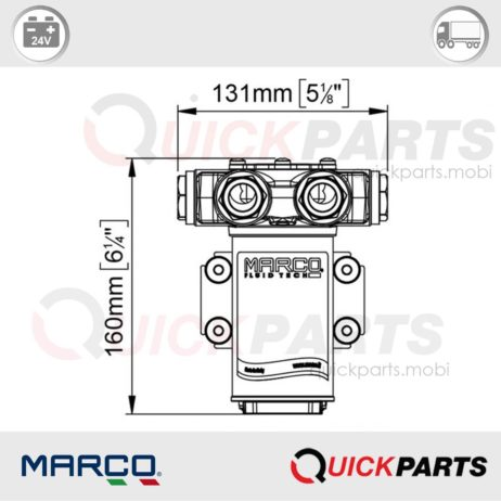 Self-Priming electric pump for various liquids | 24V | Marco VP45-N, 166 026 13