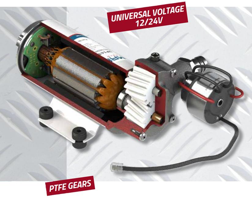 Self-priming electric pump for various liquids | 12-24V | Marco UP6/E, PTFE Gear Pumps 12V/24V Electronic Pressure Pumps, Marco 164 622 15, UP6/E
