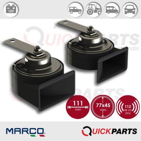 Set of electromagnetic horns | 12V | Marco 100 080 12, TM80/N