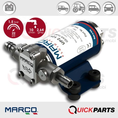 Self-Priming electric pump for various liquids | 12V | Marco UP2, Marco UP2, 164 200 12
