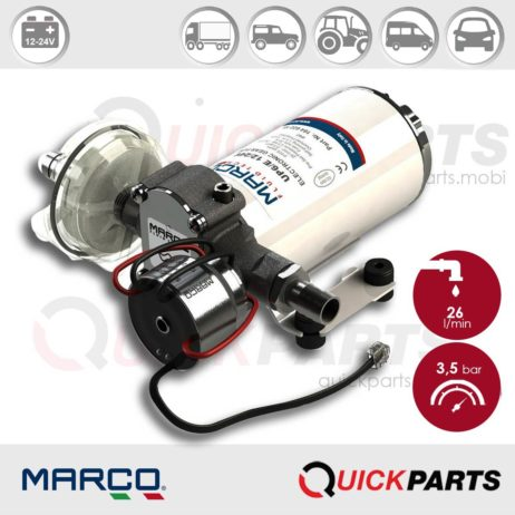 Self-priming electric pump for various liquids | 12-24V | Marco UP6/E, Marco 164 622 15, UP6/E