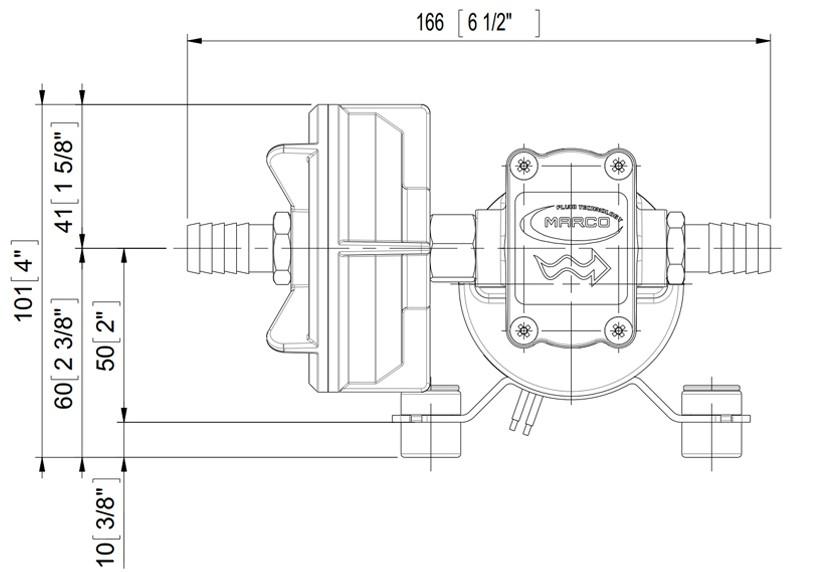 Self-Priming Electric Pump For Various Liquids | 12V | Dimensions, Marco 164 600 12, UP3/A