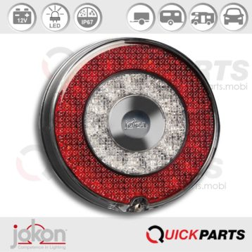Feu LED indicateur de Direction / Position / Stop |12V| Catadioptre intégré | Jokon 10.0053.000, E13-34660 E13-34664, BBS 780/12V