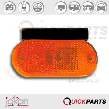 Feux LED de position latéral 12V - Avec cosse - Jokon 12.1013.600, E2 - 0062 SAE, SMLR 2004/