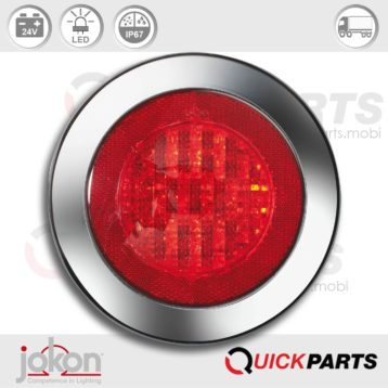 Feu LED antibrouillard et catadioptre | 24V | Jokon E2-06012, SNR 735/24V