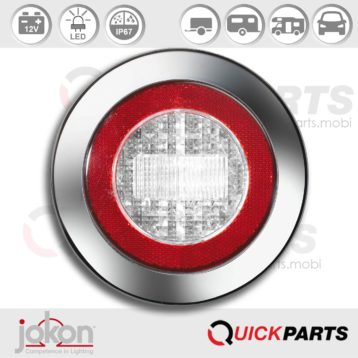 LED Reversing Light / refl. | 12V | Jokon E2-06013, WR 735/12V