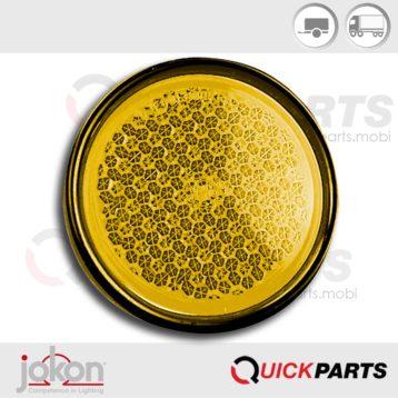 Round Yellow Reflex Reflector | Jokon 30.0002.010, E1-0231306