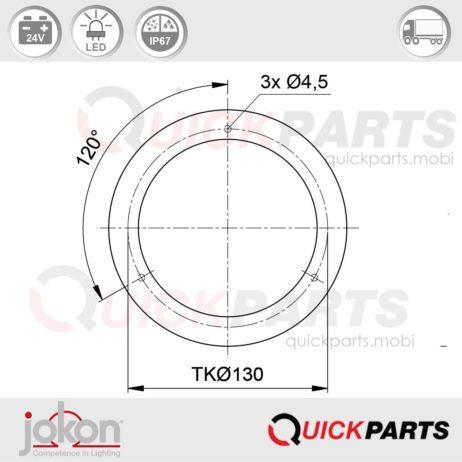 LED Mistlicht / Achteruitrijlichten   24V   Jokon E2-06046